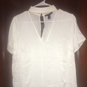 White Silk Blouse (Forever 21)